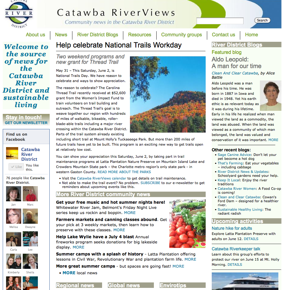 Catawba River News